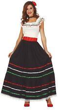 Ladies Mexican Senorita Carnival Fiesta International Fancy Dress Costume Outfit