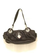 Authentic Black Juicy Couture Leather Baguette With Original Key Fob