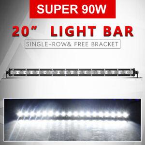 """54W 20"""" LED Arbeitsscheinwerfer Scheinwerfer Strahler Offroad Lampe LKW SUV KFZ"""
