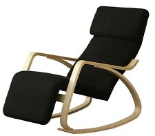 OROLAY Comfortable Relax Rocking Chair Recliner with Adjustable Footrest