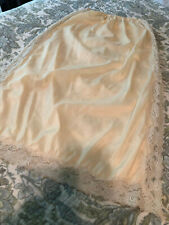 "Ladies Vintage Half Slip, Size Small, Beige, LACE, 26"" Long, Beautiful!!"