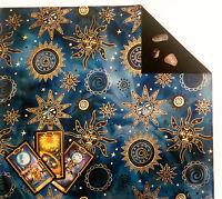 """Batik Tarot Cloth or Altar Cloth - Celestial Brilliant -18""""x20"""" Lined SPClo"""