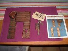 Haustürdrückergarnitur, rustikal, komplett mit Schloss + 3 Schlüssel + Anleitung