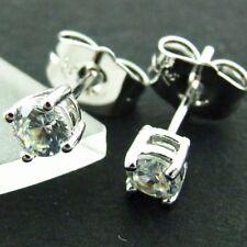 Handmade White Gold Filled Diamond Stud Fashion Earrings