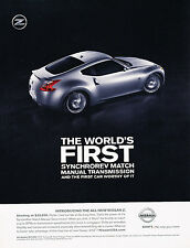2010 Nissan 370Z Original Advertisement Car Print Ad J361