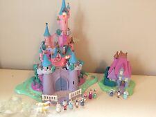 Disney polly pocket cendrillon Light Up Château bundle complet avec figurines