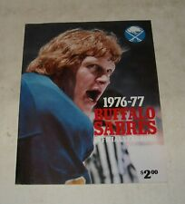 1976 - 1977 BUFFALO SABRES NHL HOCKEY OFFICIAL YEARBOOK ANDRE SAVARD TEAM PHOTO