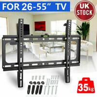 TV WALL BRACKET MOUNT LCD LED Plasma 26 40 42 46 50 52 55 inch Universal BLACK