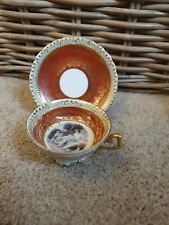 More details for miniature beehive marked neoclassical scene cup & saucer