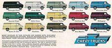 1977 Chevy VAN Brochure w/ Color Chart:G10,G20,G30,G-10,20,30,Hi-Cube,110,Nomad,