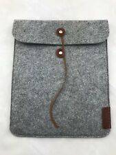 "Gray Felt Tablet Sleeve from TV Channel Esquire Network 8 1/2"" x 10 1/4"""