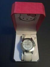 Hello Kitty Sanrio Wrist Watch - Brand New Box White Band Needs Battery 2013