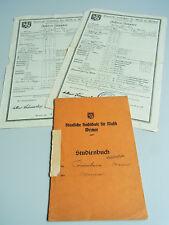 WERNER KRUMBEIN: Zeugnisse und Studienbuch 1934-36 – Hochschule für Musik WEIMAR