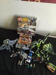 Lot lego vrac :vaisseaux star wars, 4x4 jet ski, dragon, personnages figurines