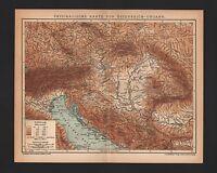 Landkarte map 1905: PHYSIKALISCHE KARTE VON ÖSTERREICH-UNGARN.