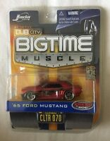 Jada Toys Dub City BIGTIME Muscle '65 1965 Ford Mustang Red Flames Die-Cast 1/64