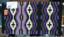 "Mayatex Las Cruces Saddle Blanket Pad 36"" x 34""- Black, Purple, Lavender, Cream"