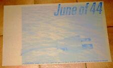 JUNE OF 44 Mega-Rare 1999 LIVE GIG POSTER Thick Cardboard HUGE - THICK Cardboard