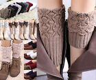 Women Winter Crochet Knitted Shell Design Boot Cuffs Toppers Liner Leg Warmers