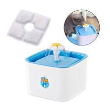 Cat Dog Water Fountain Drinking Feeder Pet Bowl Dish Dispenser Filters Element
