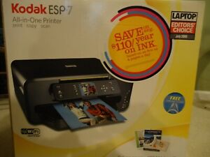 Kodak ESP 7 All-In-One Inkjet Printer Scanner Fax Wifi Document  Photo Printer