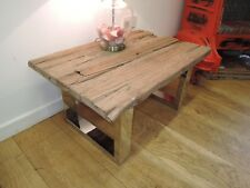 Reclaimed Solid Teak Top Coffee With Chrome Legs Table 91cm X 61cm Codem-16434