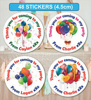 48 Birthday Party Bag Stickers Sweet cone Labels Personalised