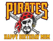 Baseball Pittsburgh Pirates decoration edible cake image cake topper
