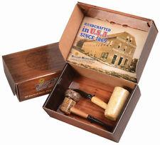 2 Tobacco Smoking Pipe American Missouri Meerschaum Corn Cob Gift Set - 5626