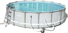 "New Bestway 16' x 48"" Power Steel Frame Above Ground Swimming Pool No Intex"