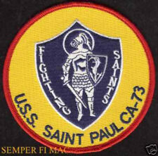 USS SAINT PAUL CA73 COM 7TH FLEET US NAVY CRUISER PATCH IN HARM'S WAY PIN UP VET