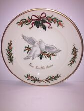Royal Gallery ALL THE DAYS OF CHRISTMAS 2 Turtle Doves Dessert Pie Plate 12 Days
