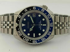VINTAGE BLUE SUNBURST MODDED SEIKO DIVER 7002-700J AUTOMATIC MEN'S WATCH 500742
