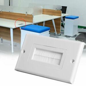 Kabeldurchführung Einsatz Einzelbürstenwandplatte Weiße Drähte Wandsteckdose