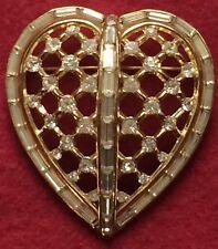 Trifari corazón broche Brooch pat. incorporado Alfred philippe 1953 pedrería rhinestone
