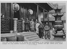 KIANGSU BUDDHIST MONASTERY CHINA INMATE PIOUS FRAUDS c 1920  AN OLD ILLUSTRATION