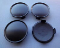 4x Nabenkappen Felgendeckel 74,5 mm  71,5 mm schwarz für Alufelgen  N12 S