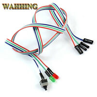 5pcs PC Desktop Computer Case ATX Power On Reset Switch Cable HDD LED Light