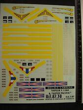DECALS TRAIN 1/87 LOCO VAPEUR 3.1280 ET SUPER PACIFIC - CARPENA  8738