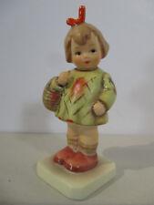 Hummel Goebel Figurine Collector Club I Brought You a Gift Girl Basket Vtg 1989