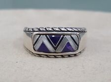 Carolyn Pollack Mosaic Charoite Multi Stone Ring Sterling Silver Size 9.25