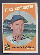 1959 Topps #191 Russ Kemmerer Washington Senators EX-MT