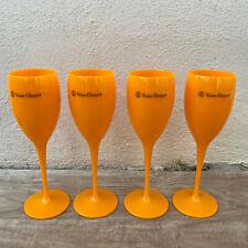 4 x Veuve Cliquot Clicquot Orange Glasses Flutes Cup Ice Champagne 1811201