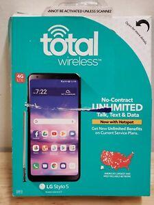 "LG Stylo 5+ Plus LMQ720QM AT&T GSM 32GB Phone Black - 6.2"" Screen"
