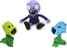 Set of 3 NEW:Plants vs Zombies Peashooters and Zombie Plush Toys - US SELLER