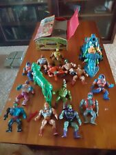 MOTU He-Man Masters of the Universe Vintage Lot 1980s Figures Case Weapons