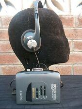 Sony WM-EX17 WALKMAN Cassette Tape Player+philips headphones,superb sound combo