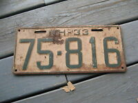 1933 33 NEW HAMPSHIRE NH LICENSE PLATE TAG. NICE ONES BUY IT NOW