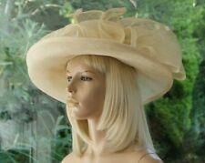 Cream/Wide Brim Hat/Failsworth/Wedding/Mother of the Bride/Occasion/Races