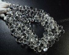 103-049/1 Cristal Gemmes Naturelles Larme Gouttes à Facettes Libre Perle 161Ct